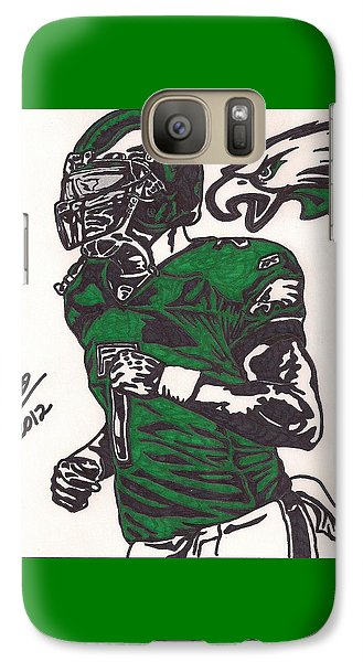Galaxy Case featuring the drawing Micheal Vick by Jeremiah Colley