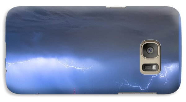 Galaxy Case featuring the photograph Michelangelo Lightning Strikes Oil by James BO Insogna