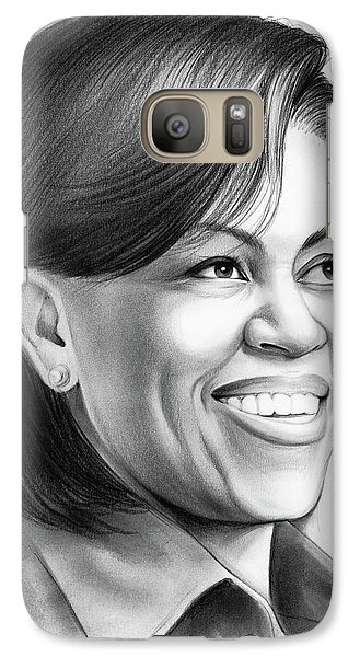 Barack Obama Galaxy S7 Case - Michelle Obama by Greg Joens