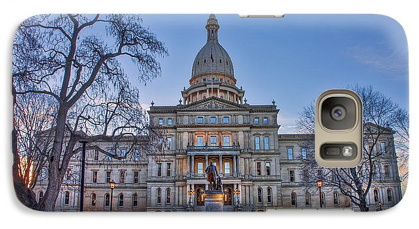 Galaxy Case featuring the photograph Michigan State Capitol by Nicholas Grunas