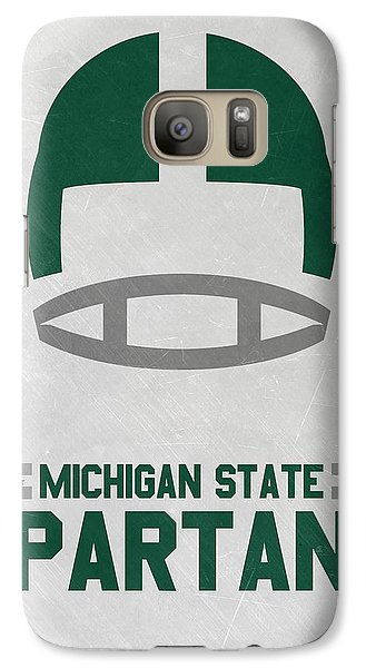 Michigan State Galaxy S7 Case - Michigan State Spartans Vintage Art by Joe Hamilton