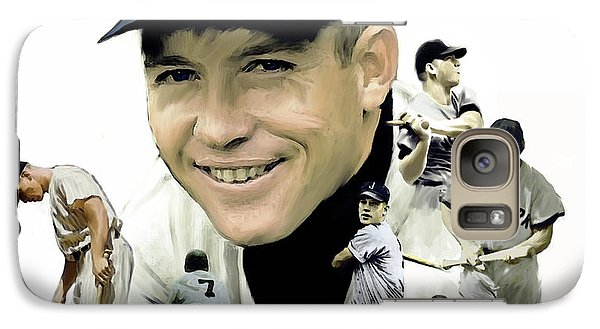 Galaxy Case featuring the painting Mickey Mantle Legacy, II  by Iconic Images Art Gallery David Pucciarelli