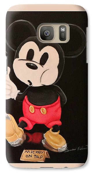 Galaxy Case featuring the painting Mickey On Tap by Susan Roberts