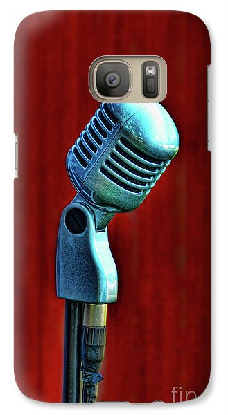 Galaxy Case featuring the photograph Microphone by Jill Battaglia