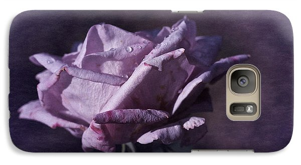 Galaxy Case featuring the photograph Mid September Purple Rose by Richard Cummings