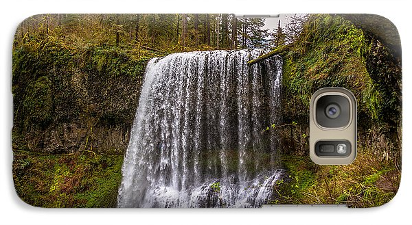 Galaxy Case featuring the photograph Middle North Falls by Jerry Cahill