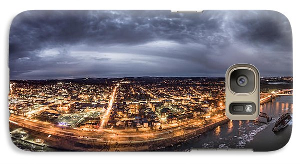 Galaxy Case featuring the photograph Middletown Connecticut, Twilight Panorama by Petr Hejl