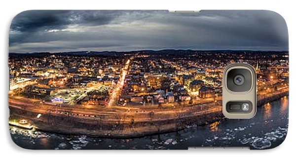 Galaxy Case featuring the photograph Middletown Ct, Twilight Panorama by Petr Hejl