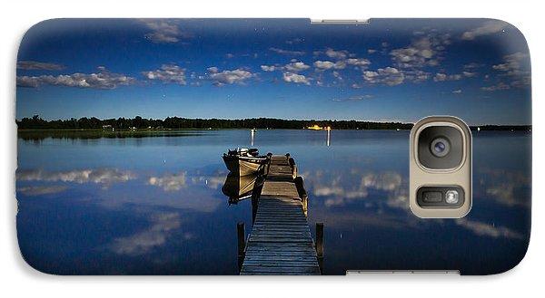 Midnight At Shady Shore On Moose Lake Minnesota Galaxy S7 Case