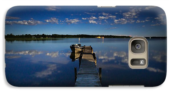Midnight At Shady Shore On Moose Lake Minnesota Galaxy S7 Case by Alex Blondeau