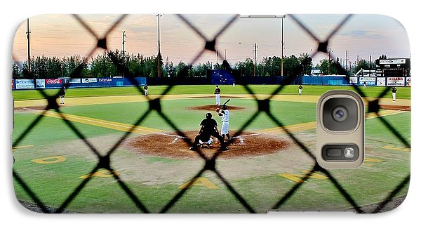 Galaxy Case featuring the photograph Midnight Baseball by Benjamin Yeager