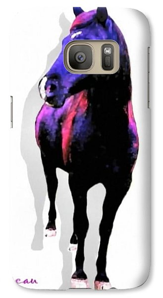 Galaxy Case featuring the photograph Midnight Black Stallion by Sadie Reneau