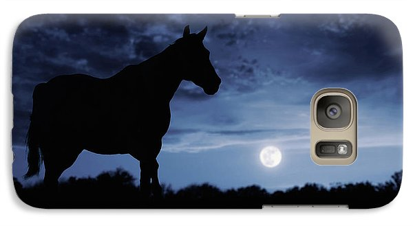 Galaxy Case featuring the photograph Midnight Blue by Debby Herold