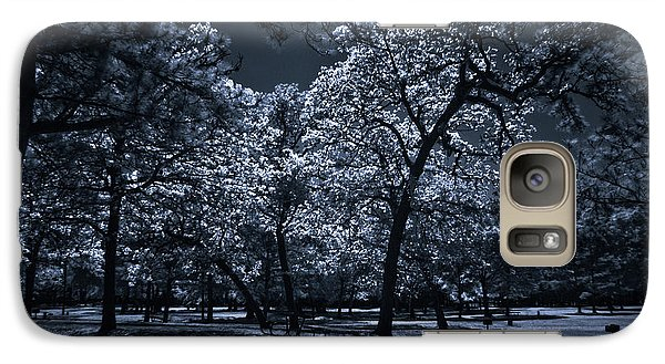 Galaxy Case featuring the photograph Midnight Blues by Linda Unger