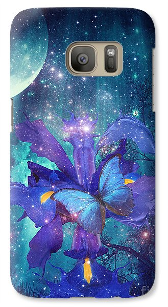 Galaxy Case featuring the digital art Midnight Butterfly by Mo T