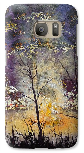Galaxy Case featuring the painting Midnight Campsite by Dan Whittemore