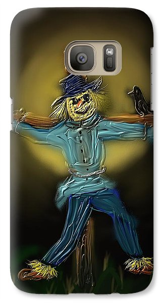 Galaxy Case featuring the painting Midnight In The Cornfield by Kevin Caudill