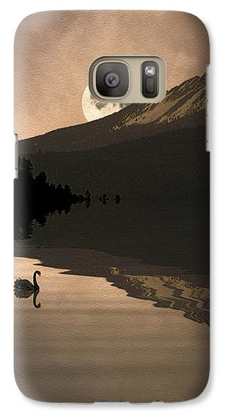 Galaxy Case featuring the photograph Midnight Moods Swan Lake In The Moonlight by Diane Schuster