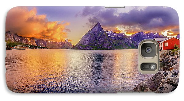 Galaxy Case featuring the photograph Midnight Orange by Dmytro Korol