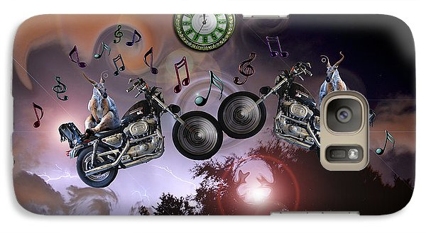 Galaxy Case featuring the photograph Midnight Rider by Amanda Vouglas