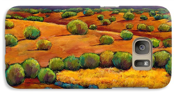 Mountain Galaxy S7 Case - Midnight Sagebrush by Johnathan Harris