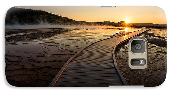 Galaxy Case featuring the photograph Midway Basin Sunset by Dan Mihai