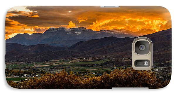 Midway Utah Sunset Galaxy S7 Case
