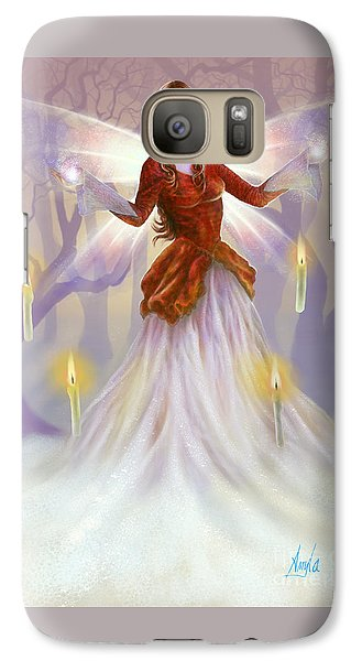 Galaxy Case featuring the painting Midwinter Blessings by Amyla Silverflame