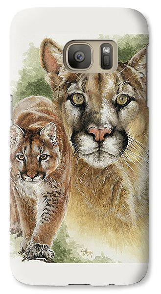 Galaxy Case featuring the mixed media Mighty by Barbara Keith