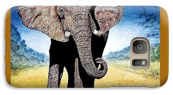 Galaxy Case featuring the painting Mighty Elephant by Hartmut Jager