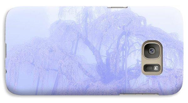Miharu Takizakura Weeping Cherry01 Galaxy S7 Case by Tatsuya Atarashi