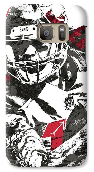 Galaxy Case featuring the mixed media Mike Evans Tampa Bay Buccaneers Pixel Art by Joe Hamilton