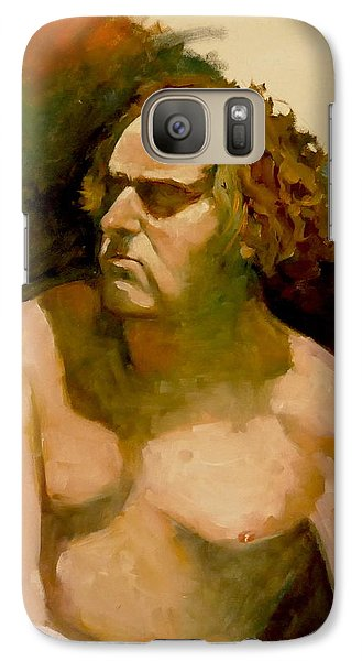 Galaxy Case featuring the painting Mike. by Ray Agius