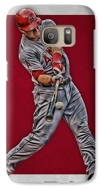 Galaxy Case featuring the mixed media Mike Trout Los Angeles Angels Art 1 by Joe Hamilton