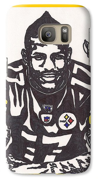 Galaxy Case featuring the drawing Mike Wallace 1 by Jeremiah Colley