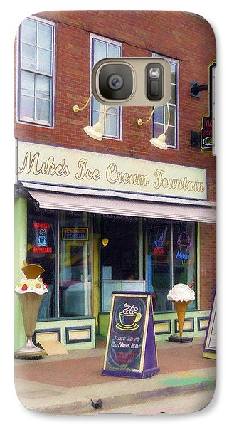 Galaxy Case featuring the painting Mike's Ice Cream Fountain by Sandy MacGowan