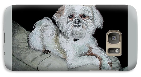 Galaxy Case featuring the painting Miki Dog by Ferrel Cordle