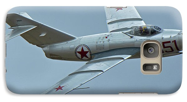 Galaxy Case featuring the photograph Mikoyan-gurevich Mig-15 Nx87cn Chino California April 30 2016 by Brian Lockett