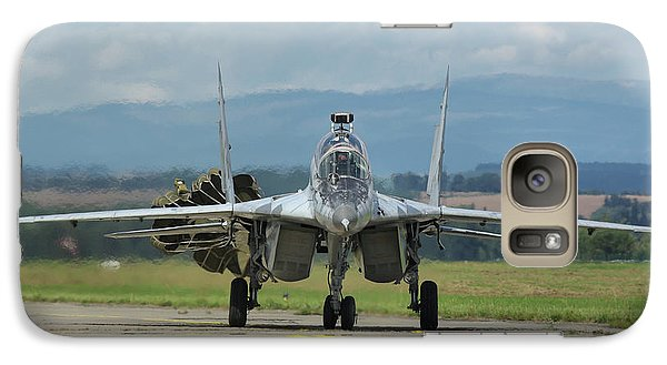 Galaxy Case featuring the photograph Mikoyan-gurevich Mig-29ubs by Tim Beach