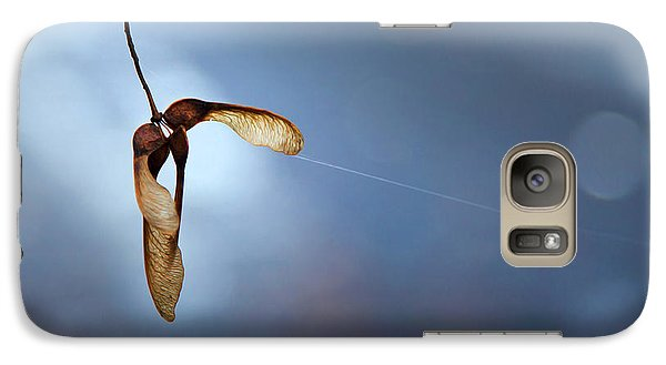 Galaxy Case featuring the photograph Miksang 3 Maple Seeds by Theresa Tahara