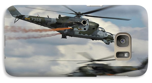Galaxy Case featuring the photograph Mil Mi-24v Hind E by Tim Beach