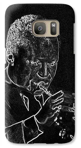 Galaxy Case featuring the mixed media Miles Davis by Charles Shoup