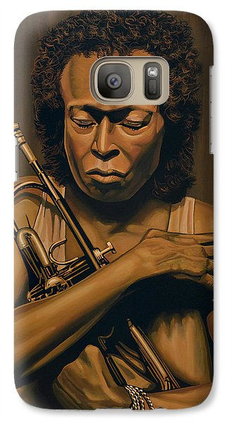Trumpet Galaxy S7 Case - Miles Davis Painting by Paul Meijering