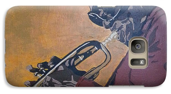 Galaxy Case featuring the painting Miles Davis by Rachel Natalie Rawlins
