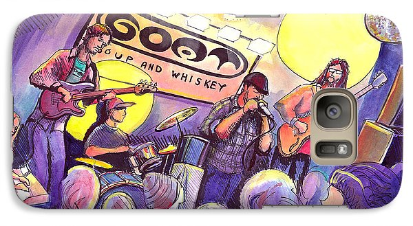 Galaxy Case featuring the painting Miles Guzman Band by David Sockrider