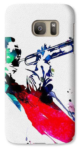 Jazz Galaxy S7 Case - Miles Watercolor by Naxart Studio