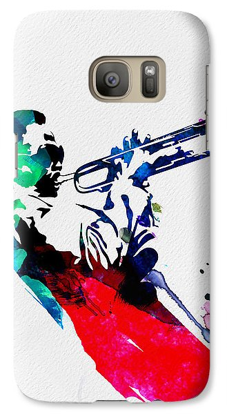 Jazz Galaxy S7 Case - Miles Watercolor by Naxart Studio
