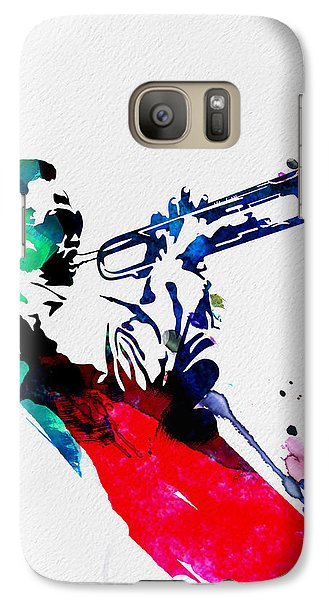 Miles Watercolor Galaxy S7 Case by Naxart Studio
