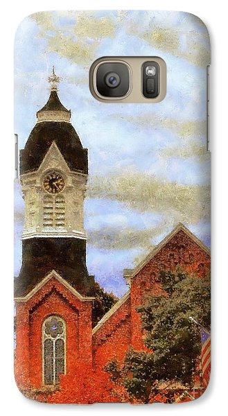 Galaxy Case featuring the photograph Milford Pa Autumn Skyline by Janine Riley