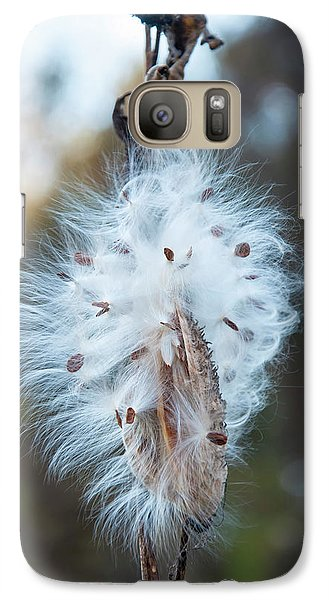 Galaxy Case featuring the digital art Milkweed And Its Seeds by Chris Flees